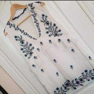 ZARA embroided summer dress